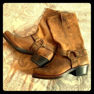 FRYE Harness12R Mid Calf Leather Boots